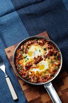 Äggpanna med köttfärs