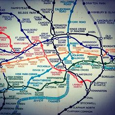 Fascinating to see the old version compared to the new version! --> London Underground Map before Harry Beck.