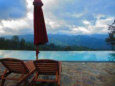 Infinity pool at Madulkelle tea and eco lodge <3