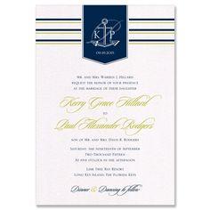 Anchor Monogram Invite - Unique Wedding Invitation by The Green Kangaroo