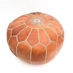 Furniture Brilliant Genuine Leather Ottoman Pouf Footstool Empty Authentic Egyptian Morocan Home & Garden