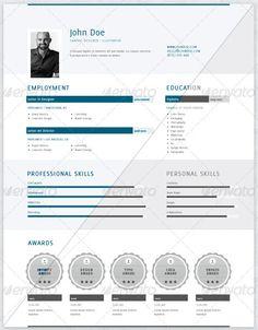 resume Indesign Resume Template, Resume Design Template, Adobe Indesign, Resume Advice, Resume Writing Services, Graphic Design Resume, Graphic Design Layouts, Creative Photoshop, Creative Resume