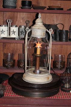 Primitive Lantern from Amish Country Peddler.