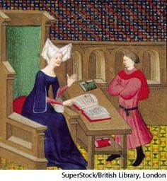 Christine de Pisan:French writer noted for her numerous poems of courtly love, a biography of Charles V of France (1404), and several polemical works in defense of womankind, such as Le Livre de la cité des dames (1405).