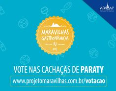 Cachaça Coqueiro Ouro, Cachaça Paratiana Ouro e Cachaça Engenho D'ouro concorrem a Maravilha Gastronômica do Estado do Rio de Janeiro 2015  Vote nas Cachaças de Paraty  Acesse o link : http://projetomaravilhas.com.br/votacao  #exposição #evento #festival #música #fotografia #arte #cultura #turismo #VisiteParaty #TurismoParaty #Paraty #PousadaDoCareca #ApacapParaty #Apacap #MaravilhaGastronômica #gastronomia #ProjetoMaravilhas #cachaça #CachaçaParaty