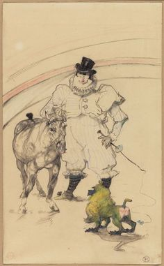 Toulouse-Lautrec, At the Circus: Trained Pony and Baboon, 1899