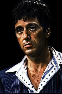 Scarface - An amazing portrait of Tony Montana by DonVito62 #GangsterMovie #GangsterFlick