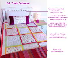 Lovely things to buy or make for a child's bedroom that make a difference to the lives of other kids around the world #fairtrade #bedroom #johnlewis @MyakkaFurniture