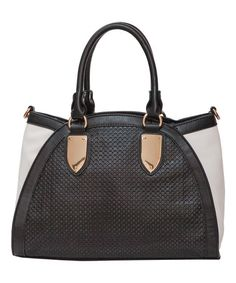 Black & White is Always a Classic!  The Phoebe Perforated Tote by Elise Hope is Perfect! #zulily #zulilyfinds #elisehope