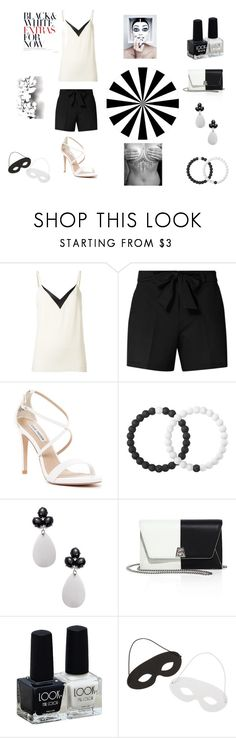 """Black and White"" by becca-8129 on Polyvore featuring Lanvin, Dorothy Perkins, Steve Madden, Lokai, Rina Limor, Akris and Élitis"