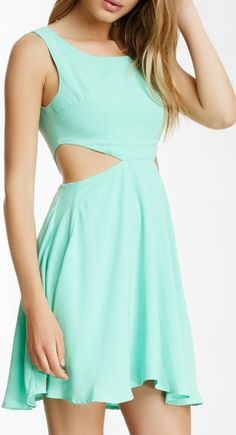 Very J Side Cutout Dress