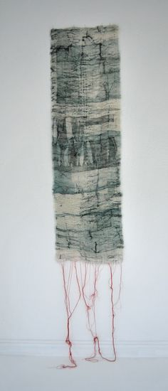 Earth-Bound - Collograph Print on Muslin, Pleated & Stitched