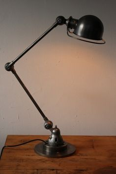 Lampe bureau Jielde 2 bras polie graphite