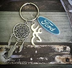 Ford dream catcher browning keychain by RedneckHBoutique on Etsy