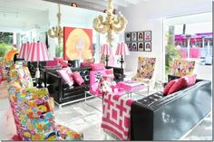 Jonathan Adler--pink and black!