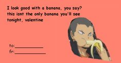 Haikyuu pick up lines More banana jokes, hm? Friend Valentine Card, Valentines Anime, Funny Valentines Cards, Anime Pick Up Lines, Pick Up Lines Cheesy, Haikyuu Meme, Pickup Lines, Crow's Nest, Volleyball Anime