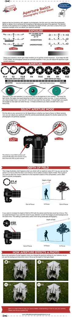 Photography Setting Info Graphic How To Use Aperture Shutter Speed and IS