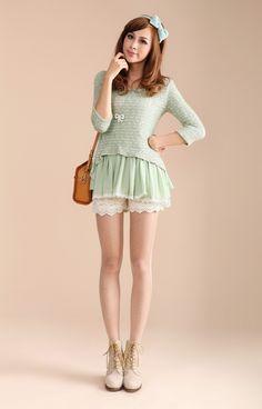 $32.12 Korean fishtail design knitted dress two-piece - Long-Sleeve