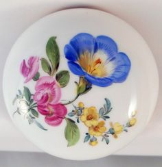 Stunning Meissen Hand Painted Flowers Lidded Box | eBay
