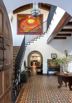 View the image gallery of our Spanish Mission Estate interior design project here. Grand Entryway, Entryway Decor, Residential Interior Design, Luxury Interior Design, Entry Way Design, Modern Traditional, Spanish Colonial, Farmhouse Chic, Design Firms
