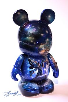 "Gerald Mendez ""Cosmic Sorcerer Mickey"" 9″ Custom Vinylmation for Blind Bags Series Two"
