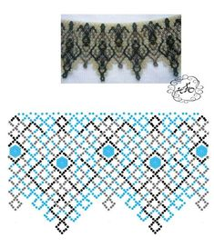 Fotos von Breath of Beads Fotos Diy Necklace Patterns, Beaded Jewelry Patterns, Bead Loom Patterns, Beading Patterns, Bead Jewellery, Seed Bead Jewelry, Seed Bead Projects, Bead Loom Bracelets, Handmade Beads