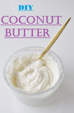 DIY Coconut Butter. All you need is 10 minutes and 1 single Ingredient. This version is cheap, easy, and fast, Such a healthy addictive spread and topping for nearly everything :) Vegan, #Gluten free, and #Paleo Recipe