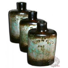 Poterie décoration intérieure bouteille en terre cuite