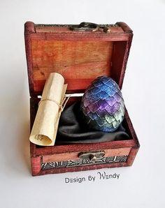 Dragon Egg Dark Rainbow & Dragon Story in by DesignByWendyBgd