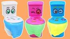 Colorful Slime Silly Putty Toilet Surprise Toys with GROSS & Funny ...