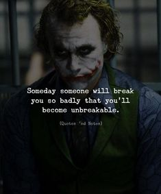 Someday someone will break you so badly that youll become unbreakable. via (ift.tt/2OHOMOM)