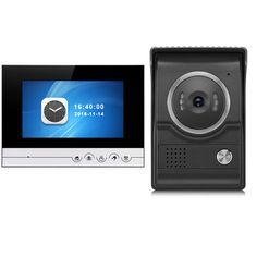 7 inch TFT 2.4G Wireless Color Intercom Doorbell Video Door Phone Night Vision IR Outdoor Monitor