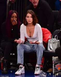 Eye on the ball! Bella Hadid looked to be settling back into life in the Big Apple as she attended a basketball game at Madison Square Garden in New York on Tuesday