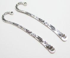 2 Tibetan Silver Flower Floral Metal Bookmarks by WhispySnowAngel Silver Flowers, Bookmarks, Etsy Shop, Personalized Items, Diamond, Bracelets, Metal, Floral, Jewlery