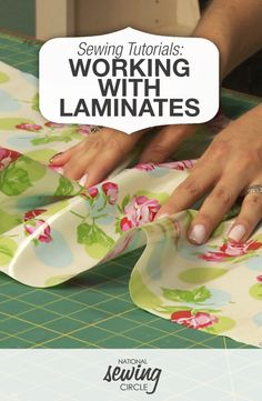 Sewing Fabric Working with Laminates Diy Sewing Projects, Sewing Hacks, Sewing Tutorials, Sewing Crafts, Sewing Tips, Sewing Ideas, Techniques Couture, Sewing Techniques, Sewing For Beginners Diy