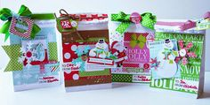 Beautifully Decorated Christmas Treat Bags - Chickaniddy Crafts Elizabeth Hellum