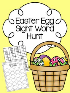 Easter Egg Sight Word Hunt from Kindergarten Busy Bees on TeachersNotebook.com (6 pages)