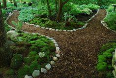 , Dales Moosgarten in Waukesha, WI. , Dales Moosgarten in Waukesha, WI Forest Garden, Woodland Garden, Garden In The Woods, Forest Path, Garden Edging, Garden Paths, Herb Garden, Back Gardens, Outdoor Gardens