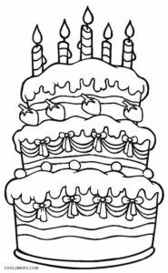 Free Printable Birthday Cake Coloring Pages For Kids Cool2bkids Happy Birthday Coloring Pages Birthday Coloring Pages Coloring Pages For Kids