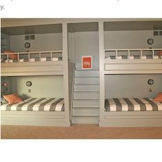 Now that is what you call master bunkbeds! I wish i had these growing up with 3 sisters!!