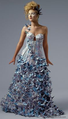 Papier Couture by Lia Griffith: Peace. More stunning costumes (made entirely out of paper!!) in link.