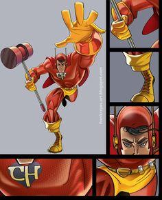 Chapolin Colorado - Marvel II_by frankreyes on DeviantArt Anime Comics, Marvel Comics, Hispanic Art, Fanart, Got Characters, Fantasy Fiction, Epic Art, Picture Day, Character Design