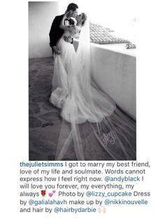 Juliet Simms and Andy Biersack's wedding (On Juliets Instagram)