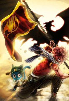 Natsu Dragneel & Happy - Fairy Tail,Anime