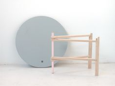A-side tables: A collection of collapsible side tables that can be folded flat in seconds, ready for the next move.
