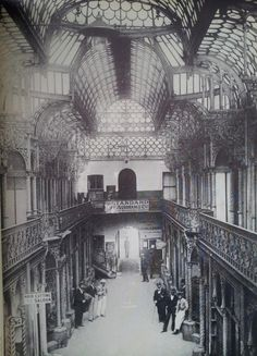 Old Arcade between Market and Commissioner Streets, Johannesburg. 1892 (With acknowledgement to Friedel Hansen) Johannesburg City, Third World Countries, My Family History, Famous Places, Historical Pictures, African History, Beautiful Buildings, The Good Old Days, Old Things