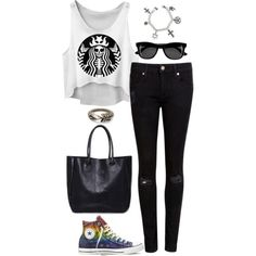 Untitled #2926 by meandelstyle on Polyvore featuring polyvore fashion style Ted Baker Converse TOMS H&M
