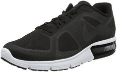Nike Men Air Max Sequent Running Shoes Black Wolf Grey White Metallic  Hematite   Be sure to check out this awesome product. (This is an affiliate  link and I ... 487c34802