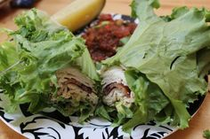 Turkey bacon lettuce wraps. Paleo lunch ideas!