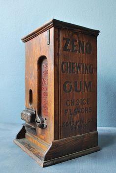 Vintage Zeno Chewing Gum Vending Machine